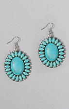 Ashlyn Rose Turquoise Flower Concho Earrings
