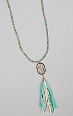 Ashlyn Rose Candaces Country Lace Tassel Necklace
