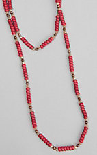 Ashlyn and Rose Red Beaded W/ Copper Accents Necklace