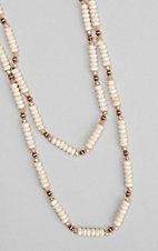 Ashlyn and Rose White Beaded W/ Copper Accents Necklace