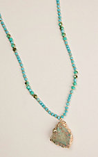 Ashlyn and Rose Young and Rich Turquoise Stone Necklace