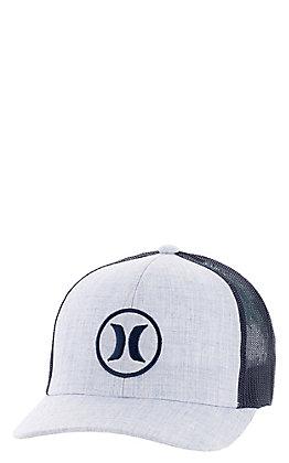 Hurley Men's Oceanside Topaz Mist With Navy Logo Mesh Snapback Cap