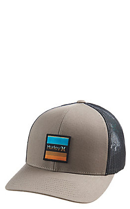 Hurley Khaki Overspray Square Logo Patch Cap