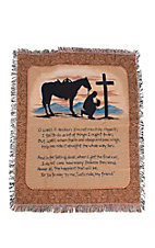 Manual Woodworkers & Weavers Cowboy Prayer Tapestry Throw Blanket