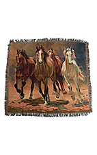 Manual Woodworkers & Weave Hoofprints & Heart Beats Tapestry Throw Blanket