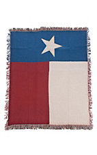 Manual Woodworkers & Weavers Lonestar Texas Flag Tapestry Throw Blanket
