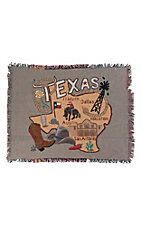Manual Woodworkers & Weavers Texas State Tapestry Throw Blanket