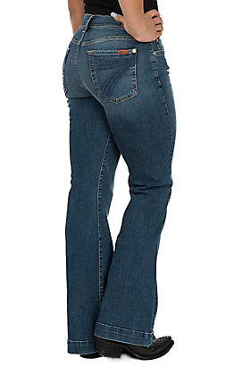 7 For All Mankind Medium Melrose Tailorless Dojo Trouser Jeans - Short Inseam