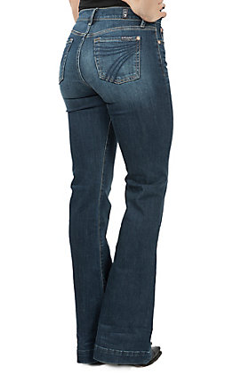 7 For All Mankind Women's Bair Authentic Denim Dojo Trouser Jeans