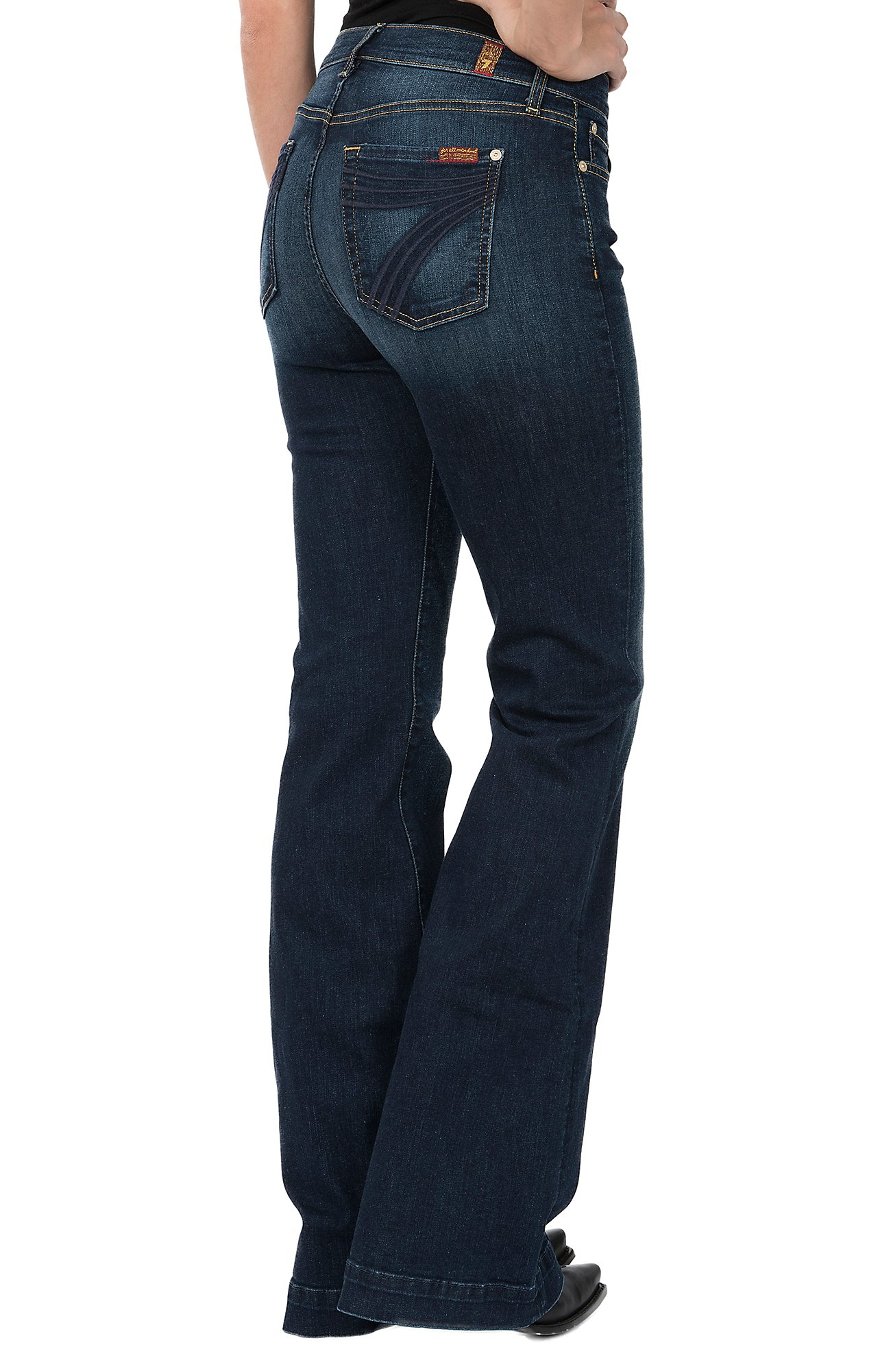 7 For All Mankind Womens Santiago Canyon Dojo Trouser Jeans