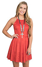 Derek Heart Women's Poppy Faux Suede Sleeveless Dress