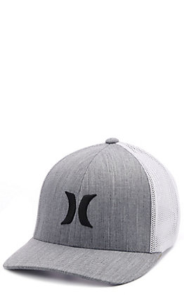 Hurley Men's Icon Textures Cool Gray FlexFit Cap