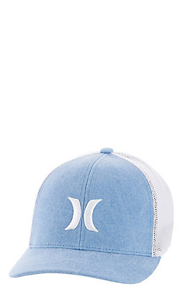 Hurley Men's Light Blue FlexFit Cap