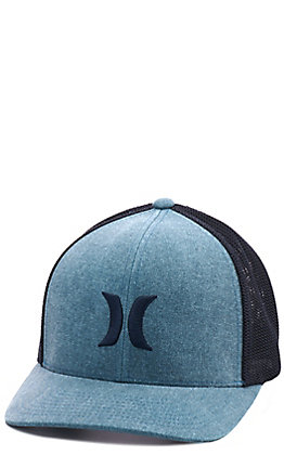 Hurley Blue & Black Logo Cap
