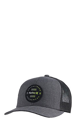 Hurley Men's Charcoal Grey Trademark Mesh Snapback Cap