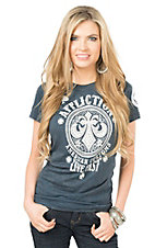 Affliction American Customs Live Fast Florida Lee Short Sleeve Casual Knit Top