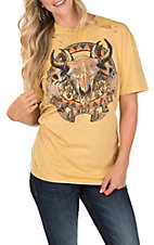 Affliction Women's Gold Rose Festival Short Sleeve T-Shirt