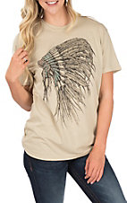 Affliction Women's Sand Full Color Headdress T-Shirt