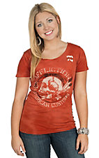 Affliction Women's Sienna Chocktaw Short Sleeve Scoop Neck Tee