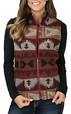 Cowgirl Legend Rust Aztec Vest