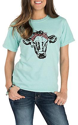 Girlie Girl Originals Women's Mint Aztec Calf S/S T-Shirt