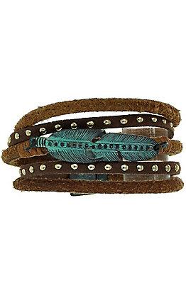 Patina Feather Bracelet