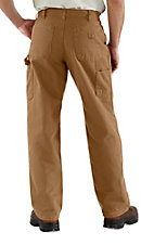 Carhartt Men's Carhartt Brown Washed Duck Work Dungaree Flannel Lined Original Fit Work Pants