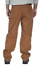 Carhartt Men's Carhartt Brown Washed Duck Double-Front Work Dungaree Original Fit Work Pants