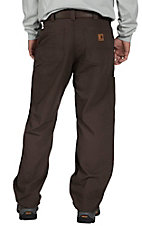 Carhartt Men's Dark Coffee Canvas Work Dungaree
