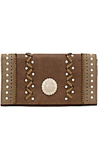 Bandana by American West Ladies Grand Junction Collection Coffee Flap Wallet