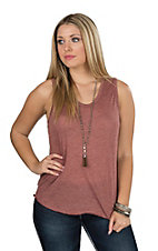 Angie Women's Wine Casual Knit Top