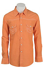 Rock & Roll Cowboy Men's Orange L/S Western Shirt