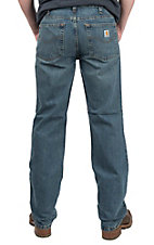 Carhartt Men's Pioneer Blue Relaxed Fit Straight Leg Jean