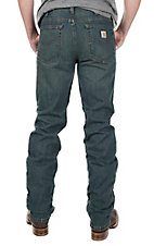 Carhartt Men's Weathered Blue Relaxed Fit Straight Leg Jean