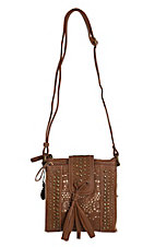 Bandana by American West Messa Collection Tan / Goldtone Organized Crossbody Bag