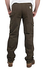 Carhartt Men's Dark Coffee Ripstop Relaxed Fit Jean