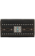 Bandana by American West Ladies Black Canyon Collection Flap Wallet