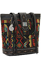 Bandana by American West Black Canyon Collection Zip Top Tote