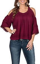 Rock & Roll Cowgirl Women's Cold Shoulder Lace Top