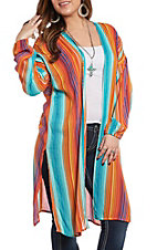 Rock & Roll Cowgirl Women's Serape Print Duster
