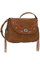 Bandana by American West Lexington Collection Tan Crossbody Flap Bag