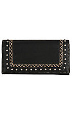 Bandana by American West Black Missoula Snap Flap Wallet