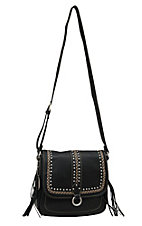 Bandana by American West Black Missoula Crossbody Flap Bag
