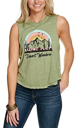 Rebellious One Women's Sage Desert Wanderer Sleeveless Graphic Tank Top