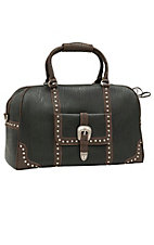 Bandana by American West Lake Tahoe Collection Black & Brown Carry-On Satchel Bag