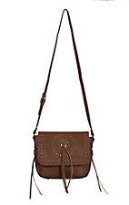 Bandana by American West Sioux Collection Tan Crossbody Flap Bag