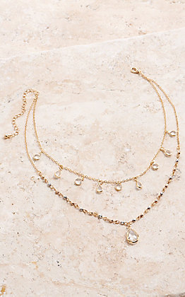 Amber's Allie Gold Layered Necklace