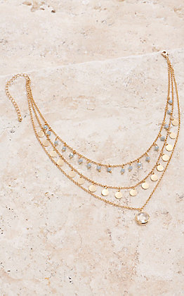 Amber's Allie 3 Strand Gold Layered Necklace