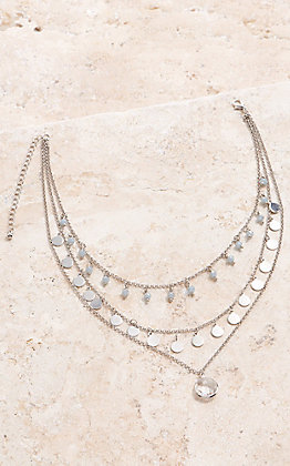 Amber's Allie 3 Strand Silver Layered Necklace