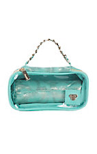 PurseN Metallic Turquoise Tiara Bangle Bar Jewelry Case